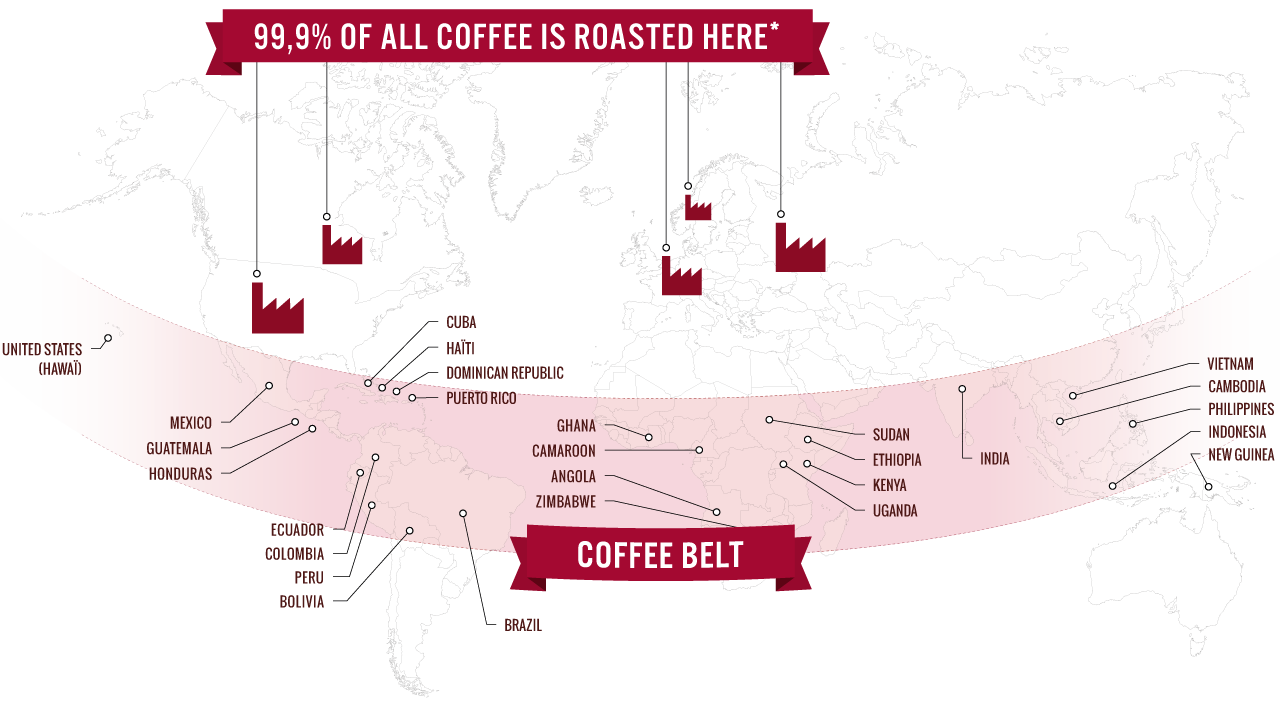 Infographic-World-map-and-Gold-vs-Coffee